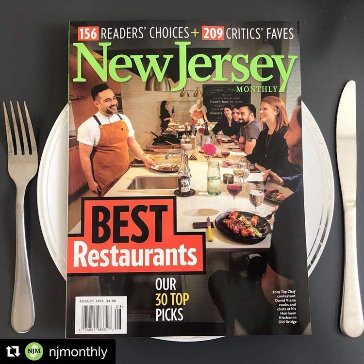 cover of New Jersey Monthly Magazine's Top 30 Best Restaurants